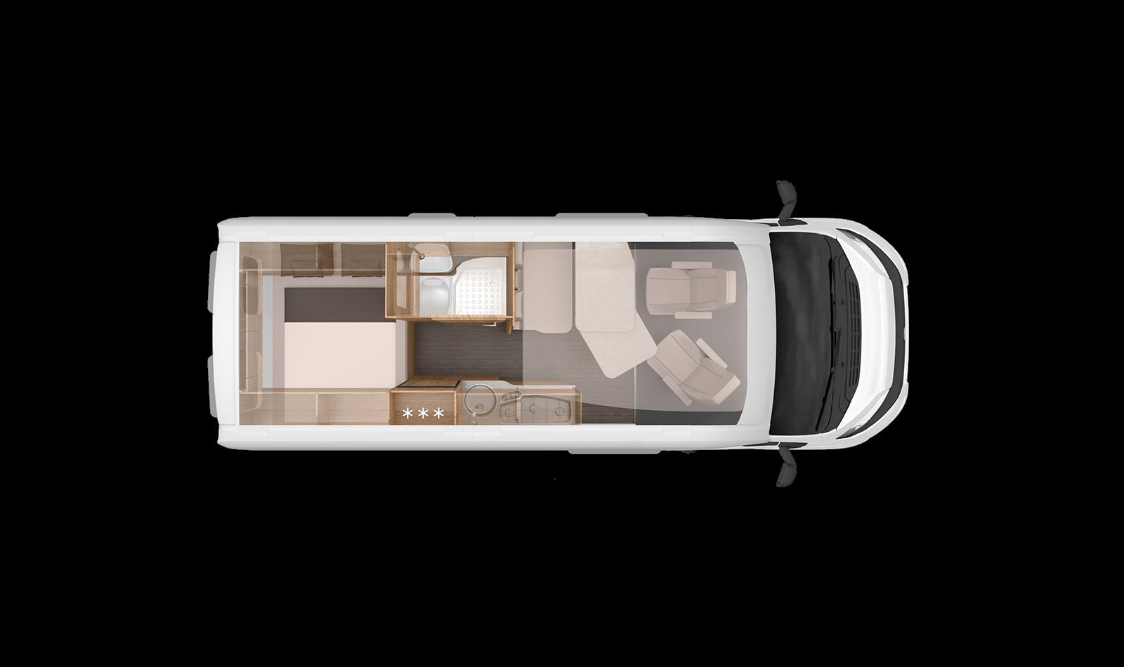 Grundriss Boxstar 600 Solution - Elk Reisemobile