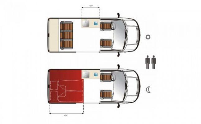 Grundriss VW T6 - Elk Reisemobile